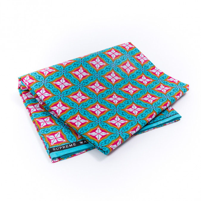 aqua and pink geometric waxed african print 317753 11