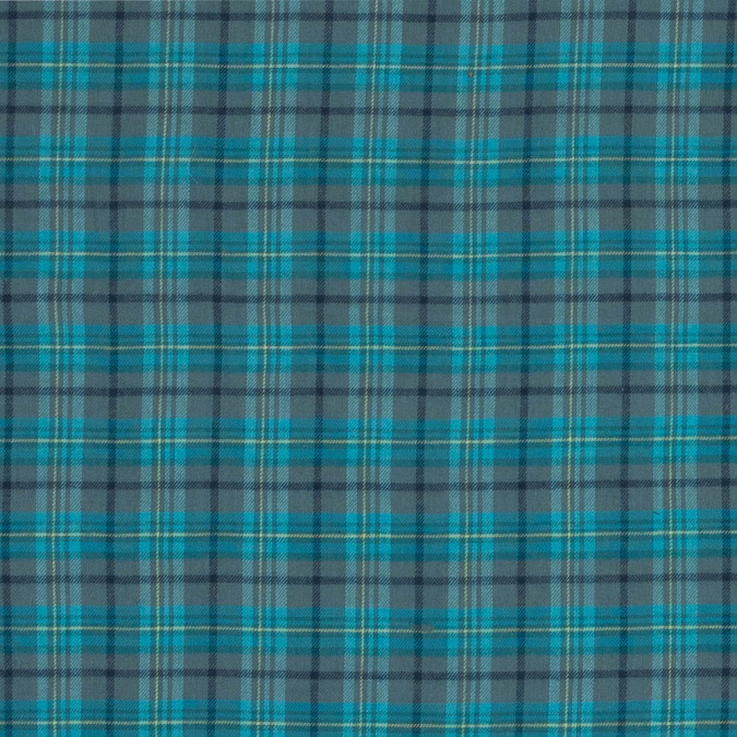 aqua and trellis gray plaid brushed cotton twill 318781 11