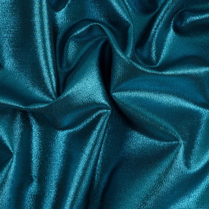 aqua black metallic polyester lame 311054 11