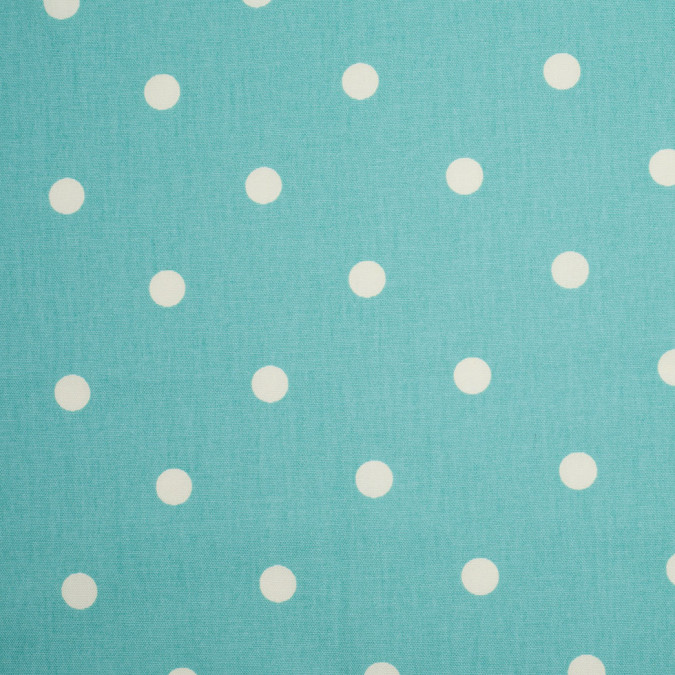 aqua cotton canvas polka dots 106647 11