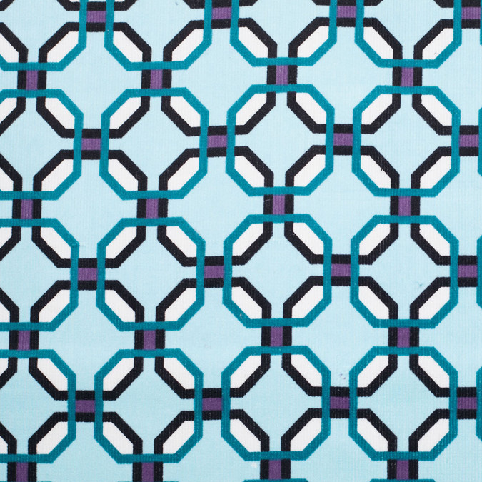 aqua geometric stretch cotton corduroy 305983 11
