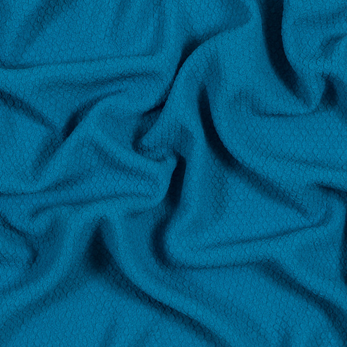 aqua puckered polyester crepe 319013 11