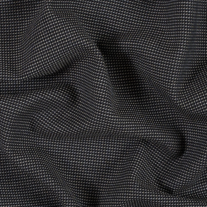 armani black and oatmeal stretch wool tweed 314399 11