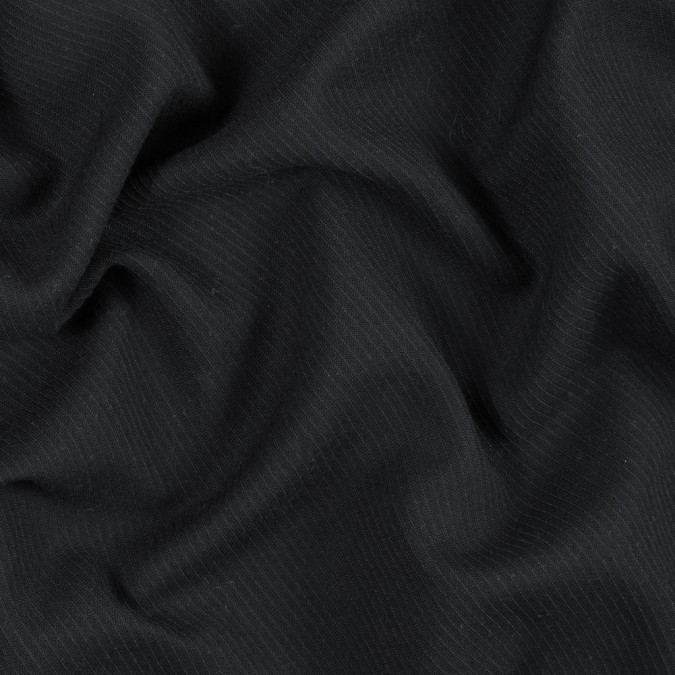 armani black textural wool twill with give 314282 11