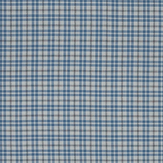 ashley blue and white plaid textured cotton shirting 318786 11