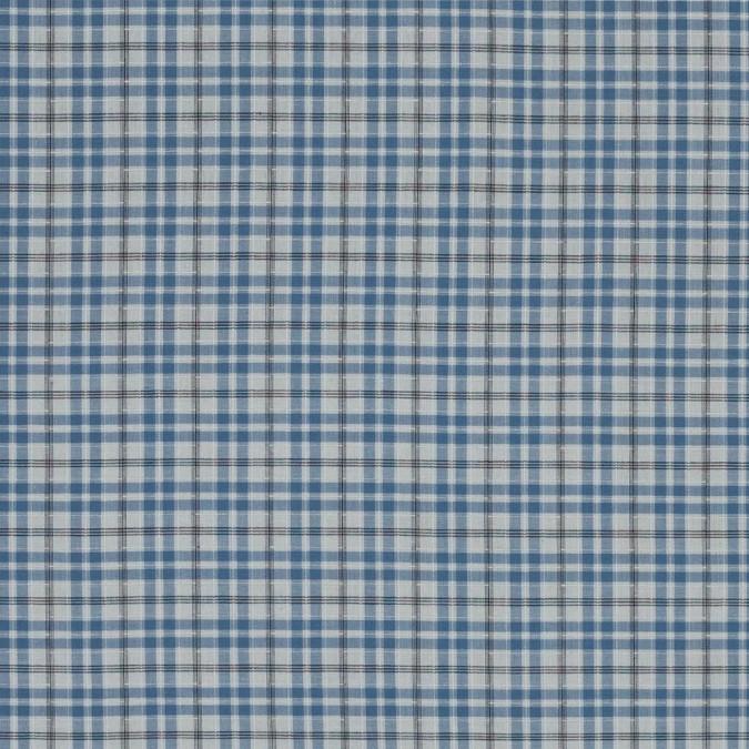 ashley blue and white plaid textured cotton shirting 318786 11