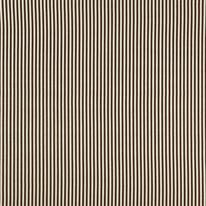 aztec brown white candy striped cotton voile 308267 11