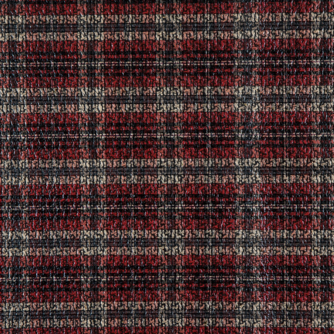 baked apple black sea mist beige plaid laminated polyester tweed 310981 11