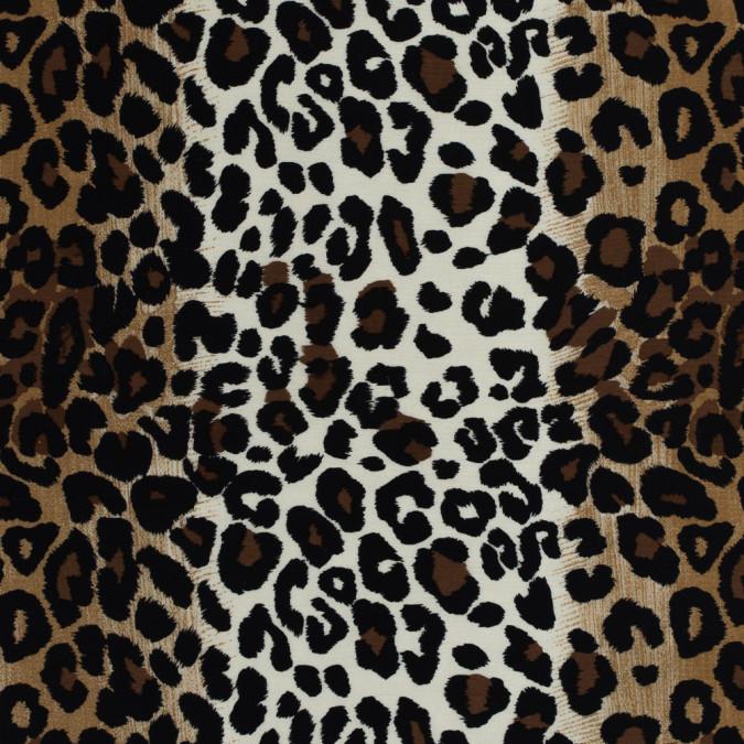 beige brown and black jaguar printed silk wool 34mm 313960 11