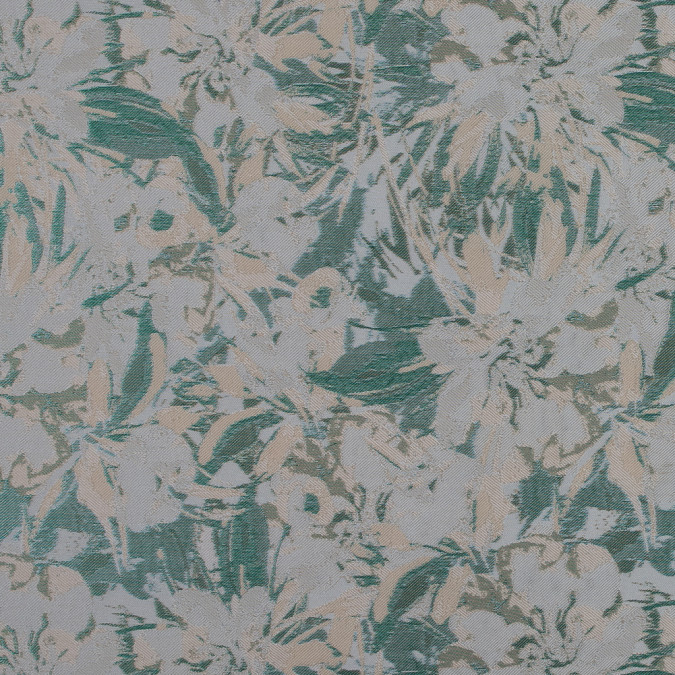 beige green and ivory abstract floral jacquard 318353 11