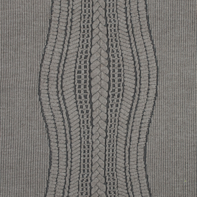 beige and black novelty virgin wool knit with chunky knit design 318437 11