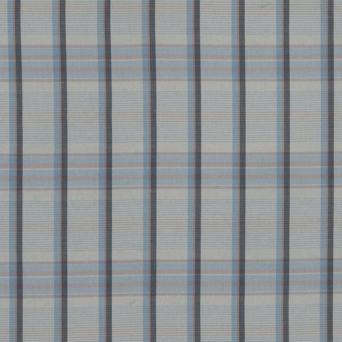 beige and blue plaid cotton lawn 318801 11