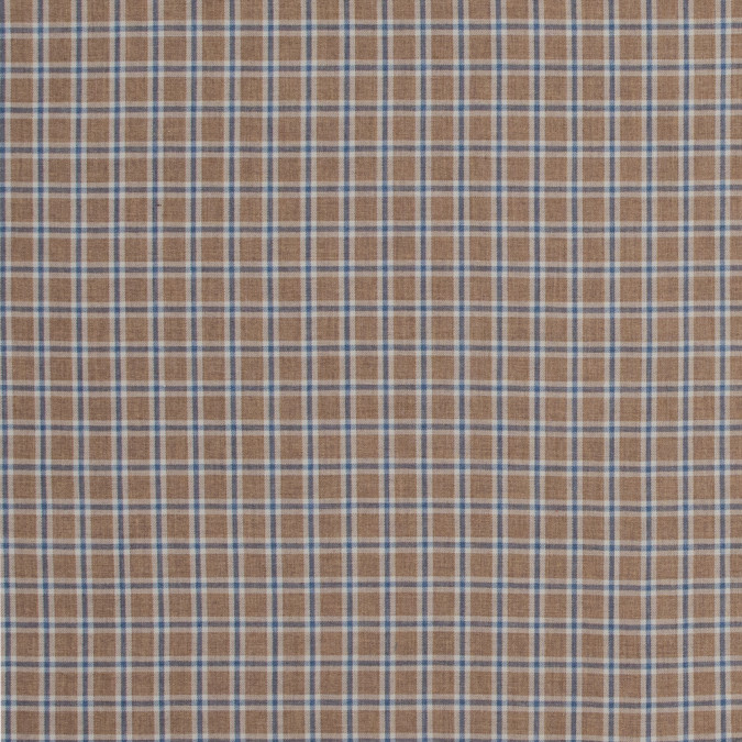 beige and blue plaid cotton twill 316844 11