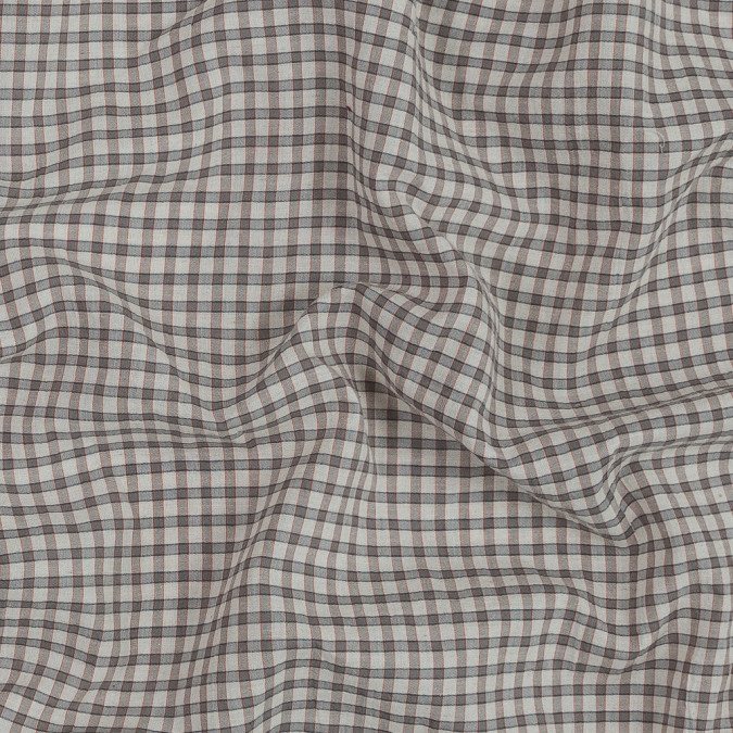 beige and gray checkered japanese cotton shirting 318908 11