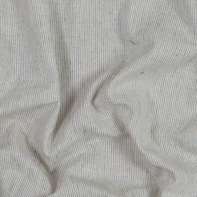beige and navy pinstriped japanese cotton woven 318882 11