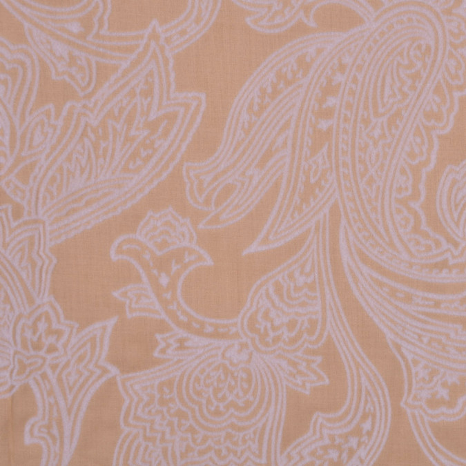 beige and pale gray flocked paisley cotton voile fc12765 11