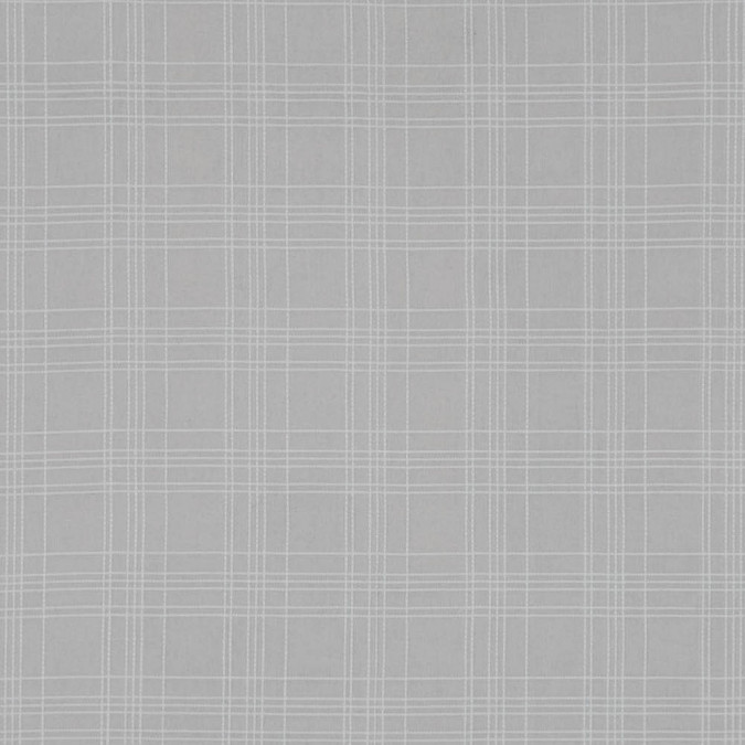 beige and white cotton woven with emboidered plaid design 318787 11