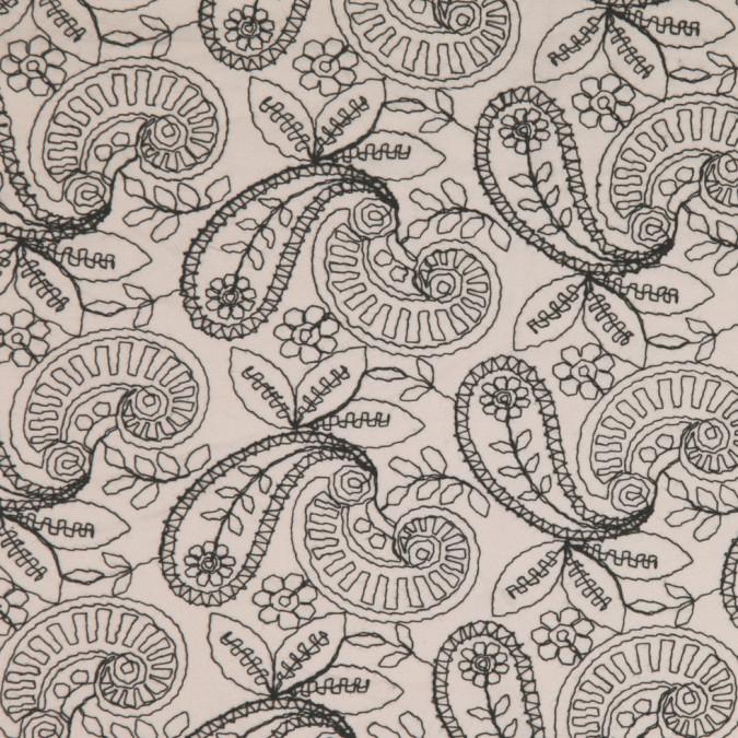 beige black paisley embroidered poplin fc25313 11