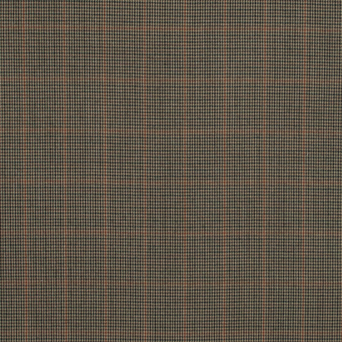 beige houndstooth wool suiting with orange windowpane check design 317867 11