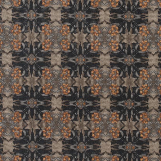 beige kaleidoscopic printed polyester chiffon 311639 11