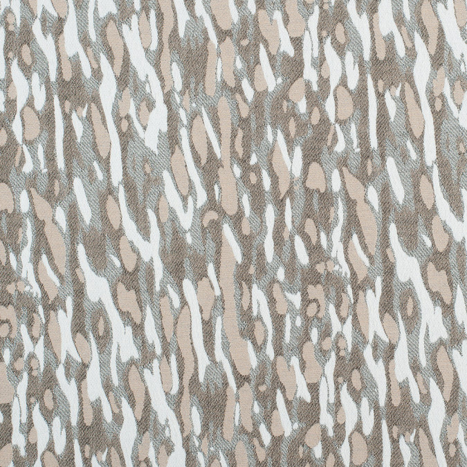 beige white abstract camo stretch cotton poly jacquard 308752 11