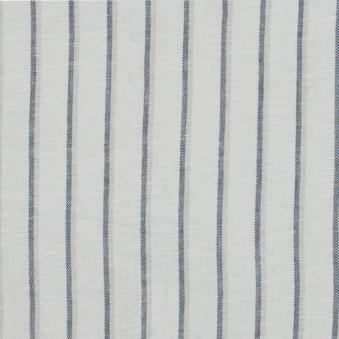 birch and steel blue shadow striped linen twill 317592 11
