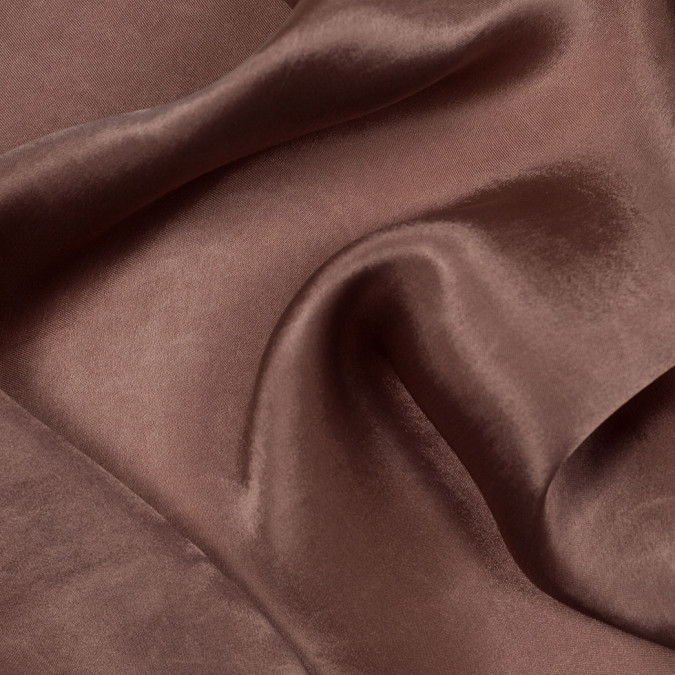 bison brown colored polyester charmeuse 304798 11