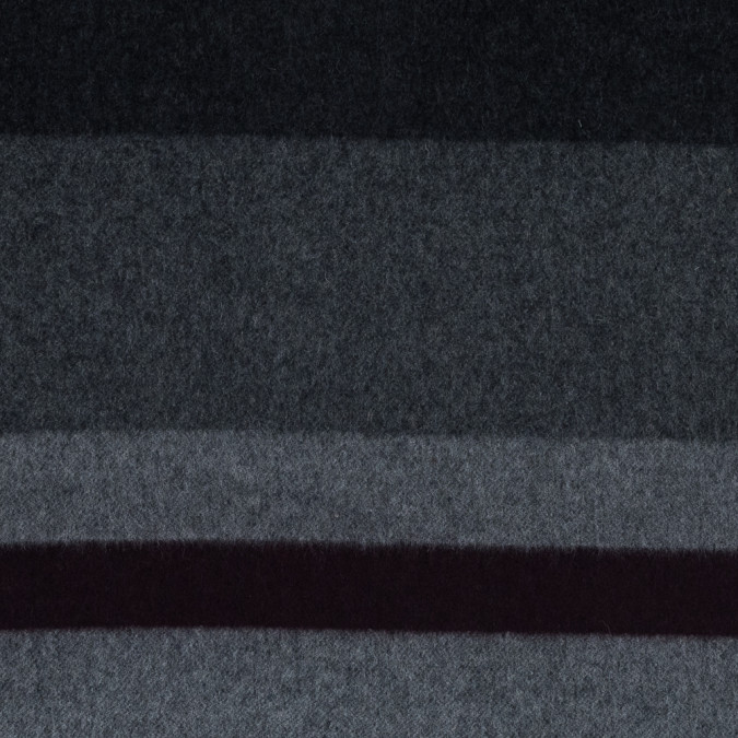 black gray and burgundy wide striped wool coating 318448 11