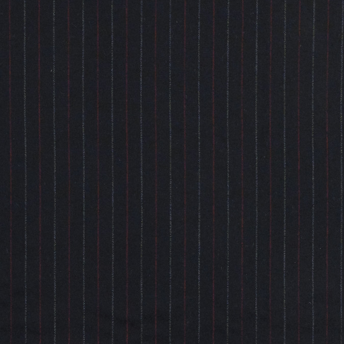 black red and white striped wool twill 318948 11