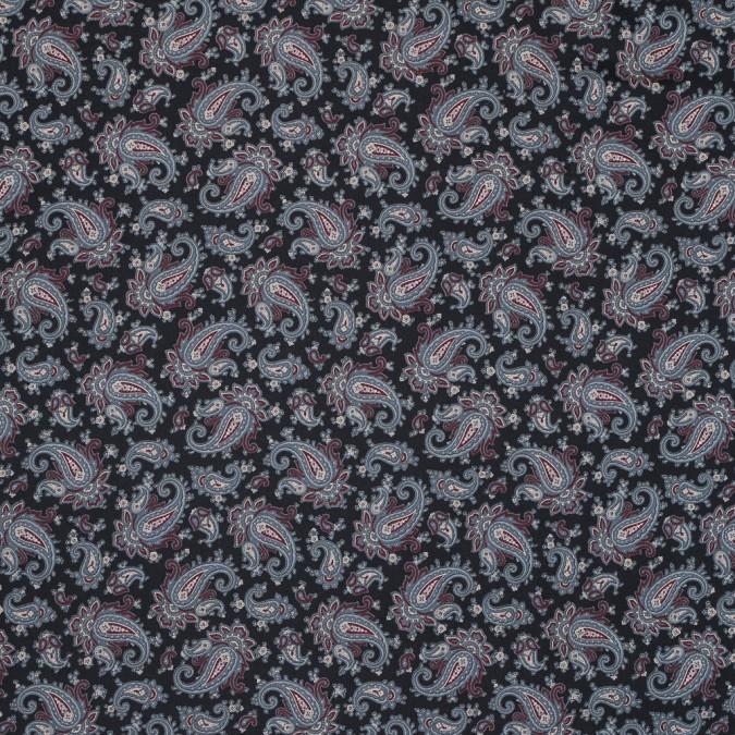 black slate and wine paisley printed silk twill 319312 11
