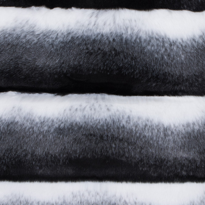black white and gray ribbed ombre faux fur 116564 11
