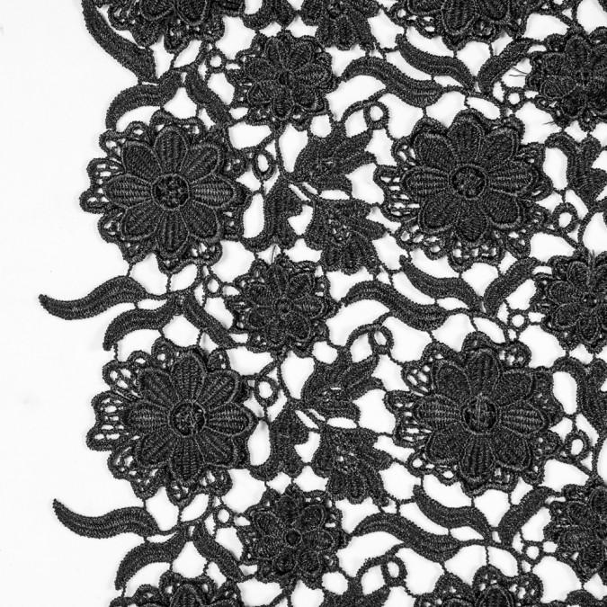 black 3d floral guipure lace 311538 11