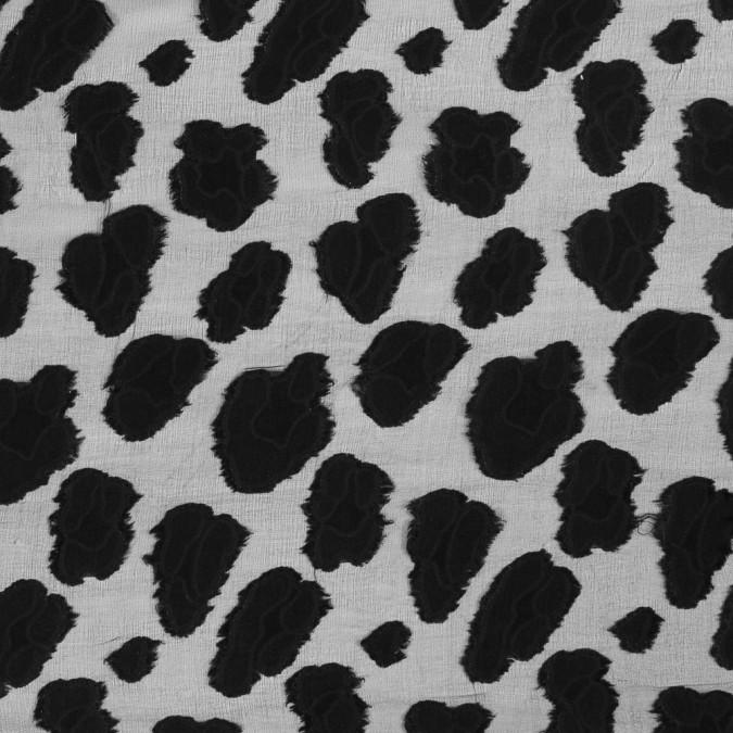 black abstract burn out silk chiffon 318739 11
