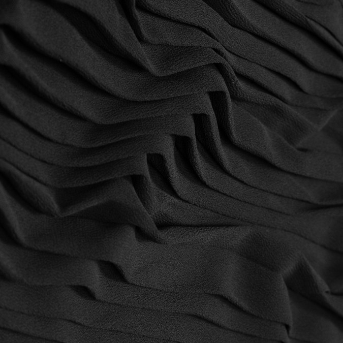 black accordion pleated chiffon 314082 11