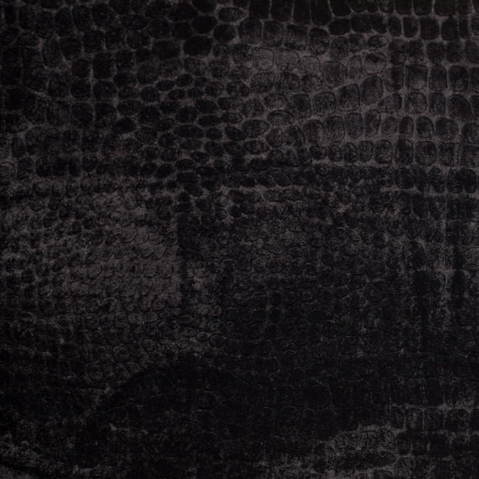 black alligator embossed silk viscose velvet 306023 11