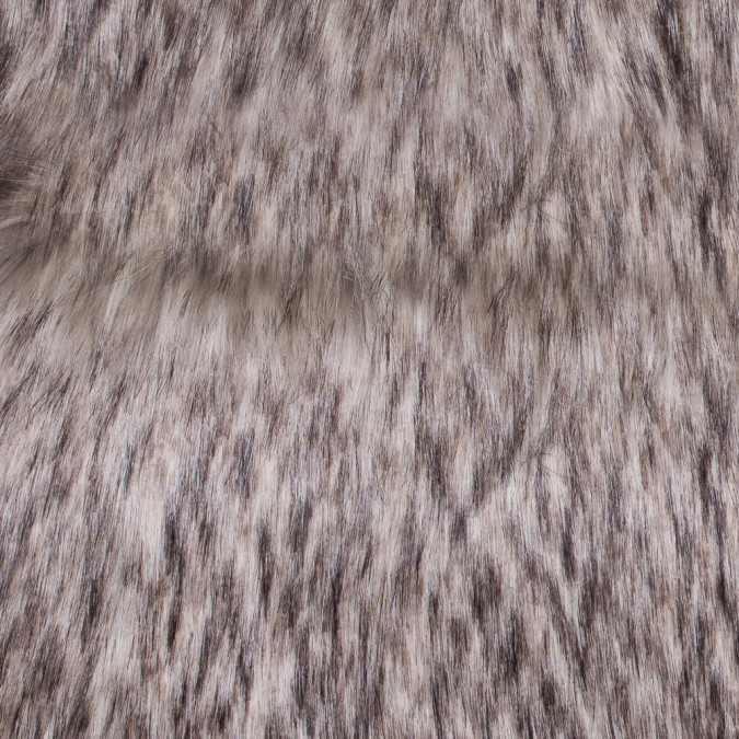 black and beige long haired faux fur 116560 11