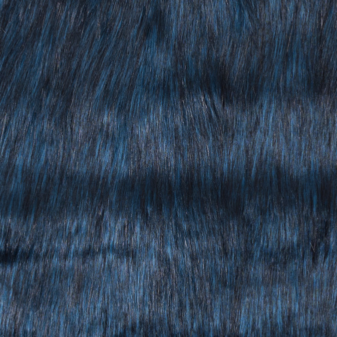 black and blue long haired faux fur 116574 11