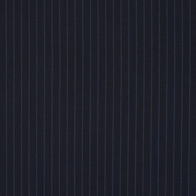 black and blue pinstriped stretch wool suiting 311948 11