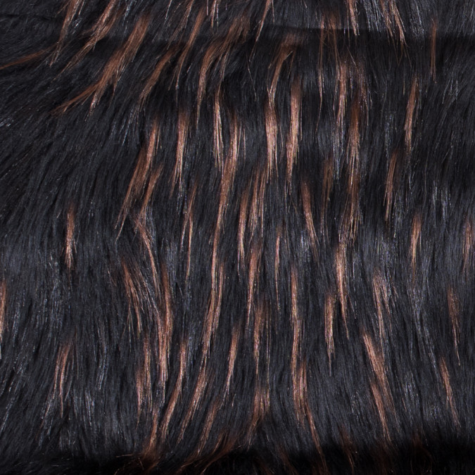 black and brown long haired faux fur 116562 11