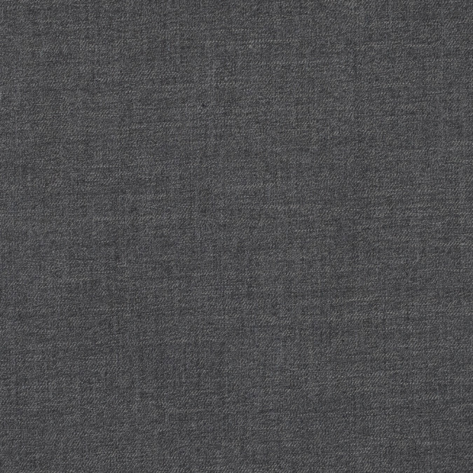 black and charcoal virgin wool double faced melange 317147 11