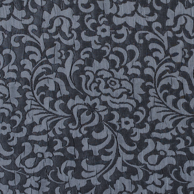 black and gray crinkled floral brocade 312160 11
