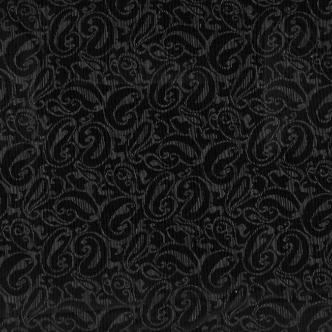 black and gray paisley printed cotton corduroy 319597 11