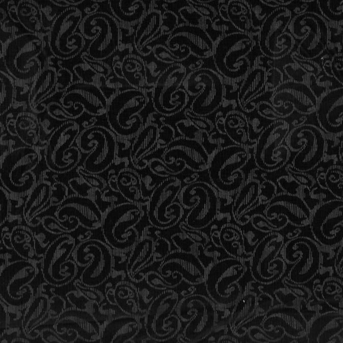 black and gray paisley printed cotton corduroy 319597 11