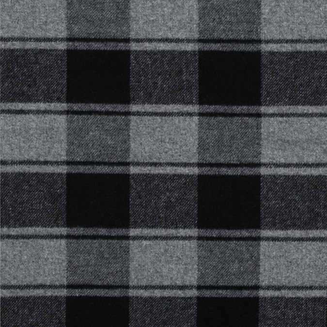 black and gray plaid brushed wool twill 317893 11