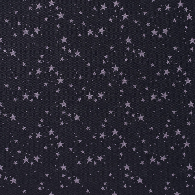black and gray star printed polyester and bamboo wicking fabric 312683 11
