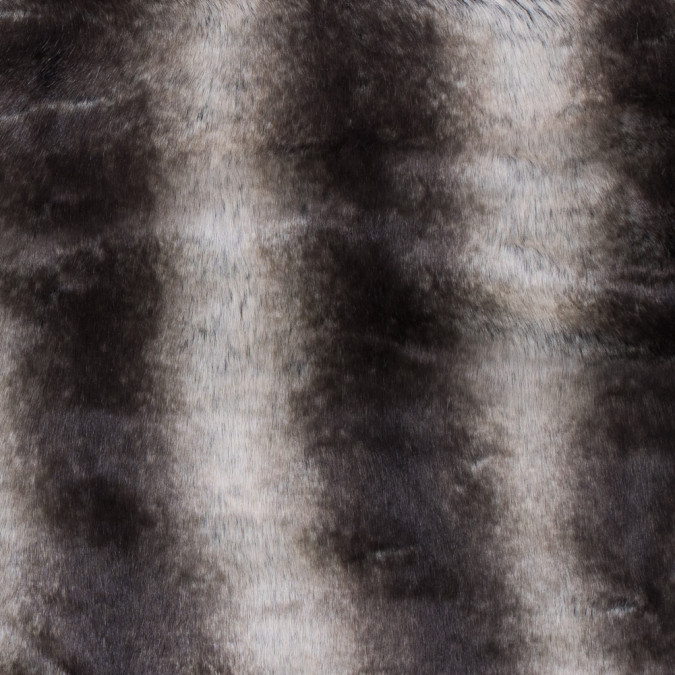 black and ivory striped faux fur 116571 11