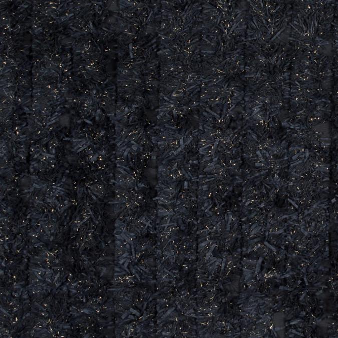 black and metallic gold fringe fabric 318360 11