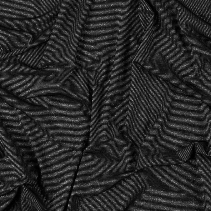 black and metallic silver striped rib knit 312589 11