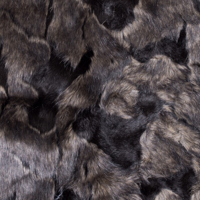 black and mocha faux artic fox fur 312828 11