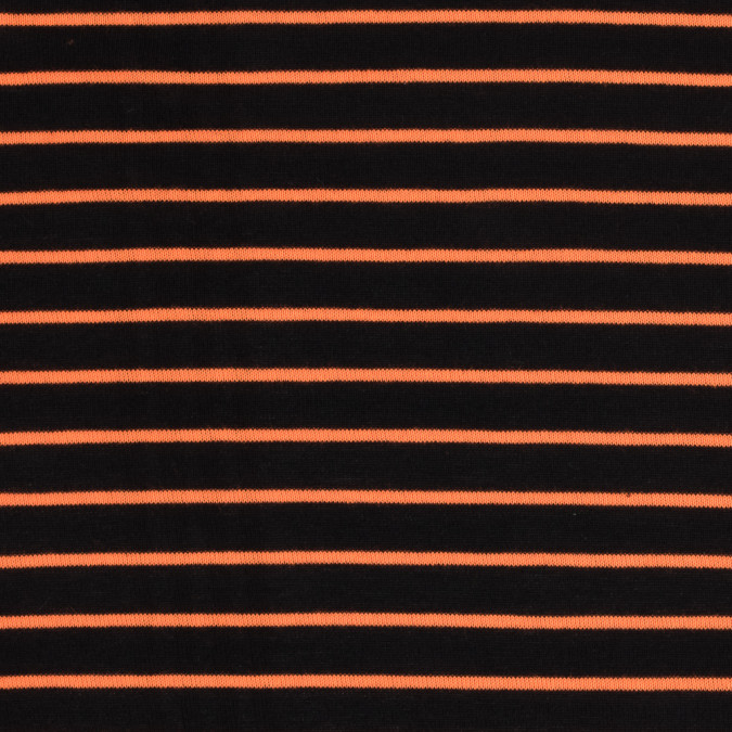 black and neon orange striped hacci baby knit 313374 11